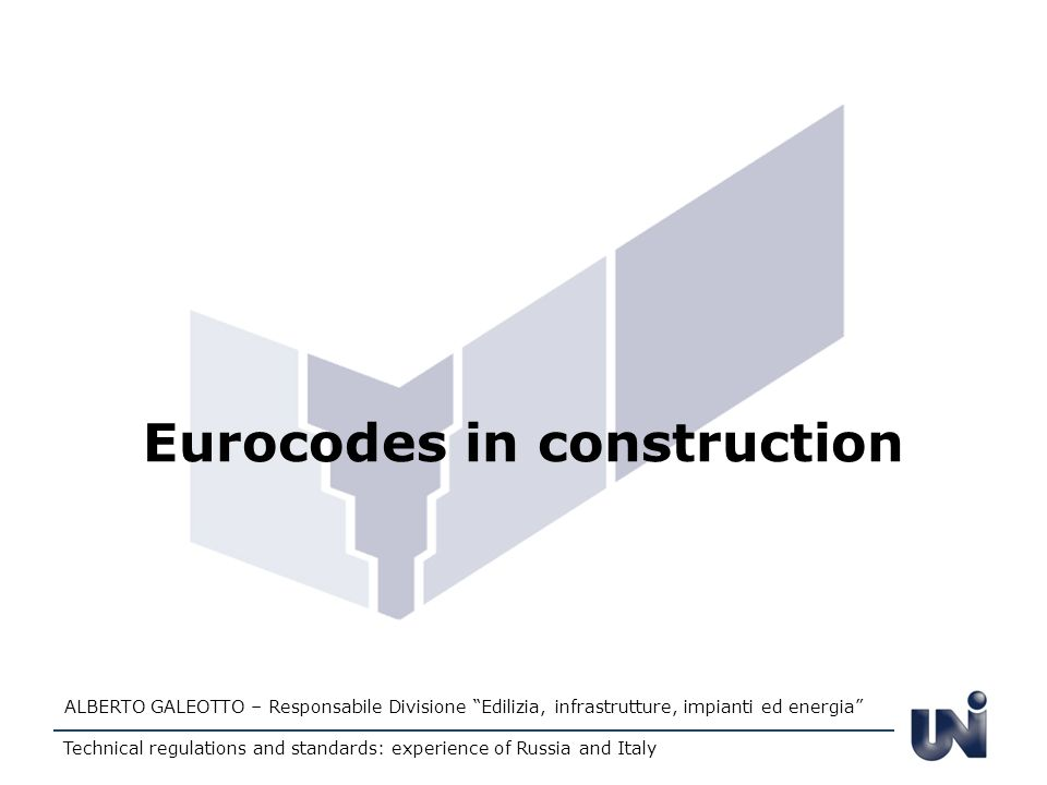 Eurocodes in construction
