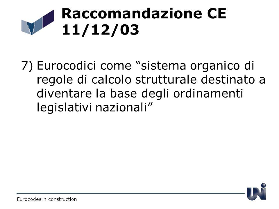 Raccomandazione CE 11/12/03