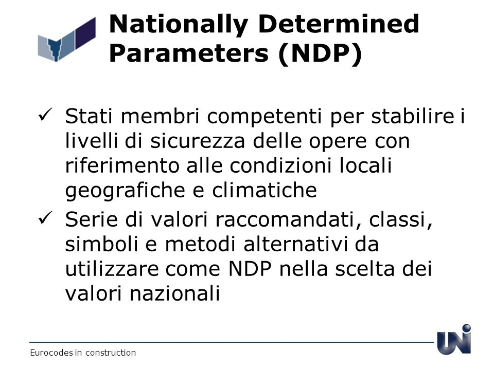 Nationally Determined Parameters (NDP)