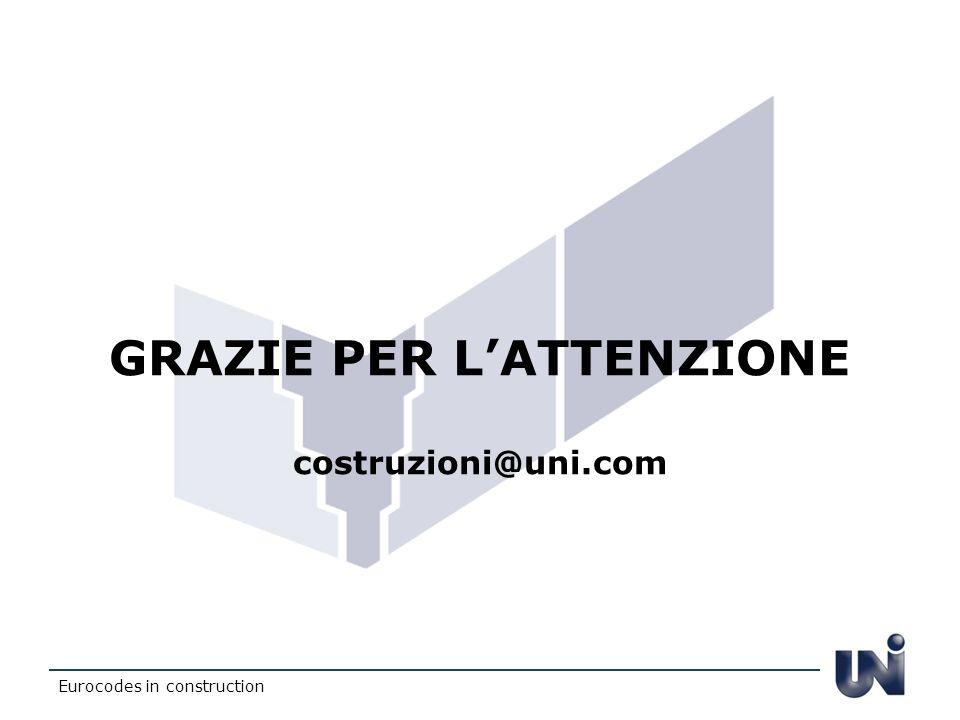 GRAZIE PER L'ATTENZIONE costruzioni@uni.com