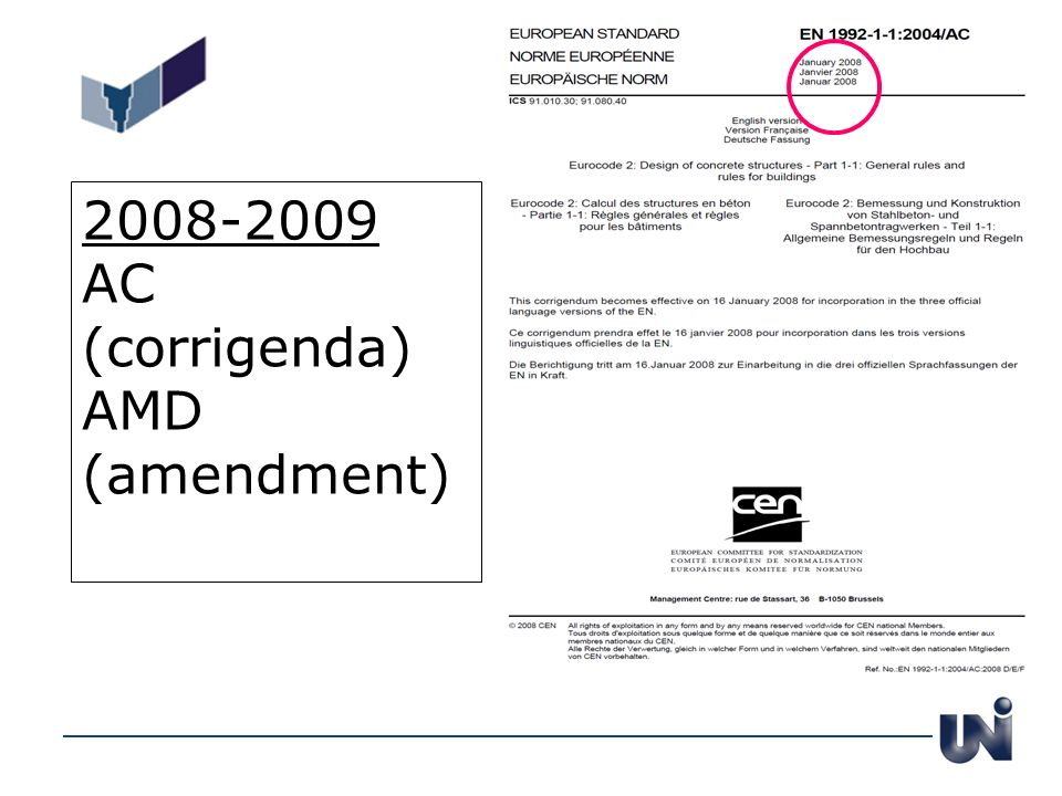 2008-2009 AC (corrigenda) AMD (amendment)