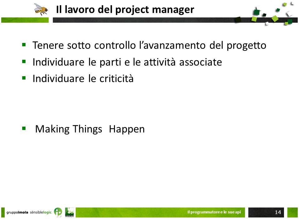 Il lavoro del project manager