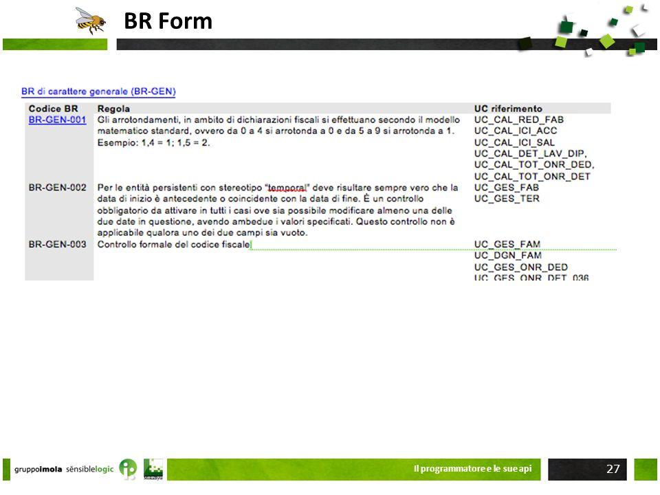 BR Form Il programmatore e le sue api