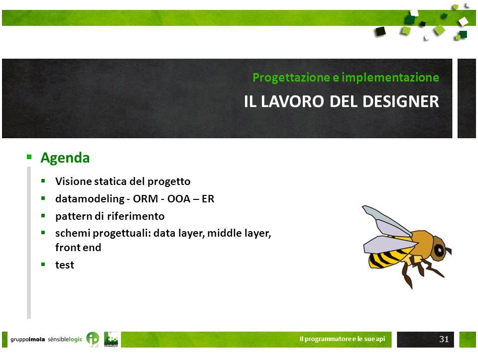 Il lavoro del designer Progettazione e implementazione