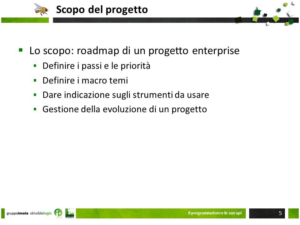 Lo scopo: roadmap di un progetto enterprise