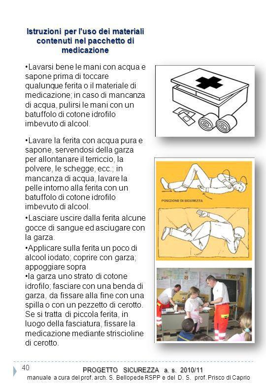 Istruzioni per l uso dei materiali