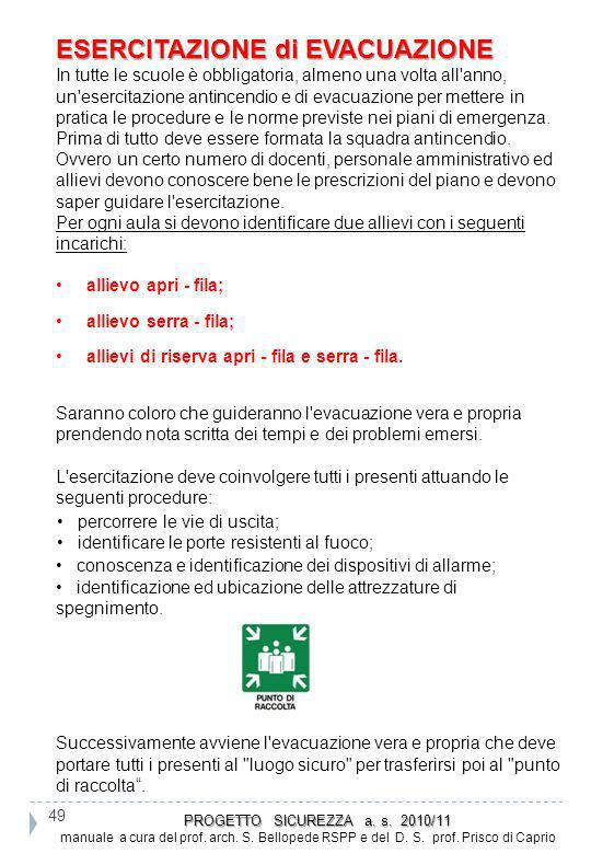 PROGETTO SICUREZZA a. s. 2010/11