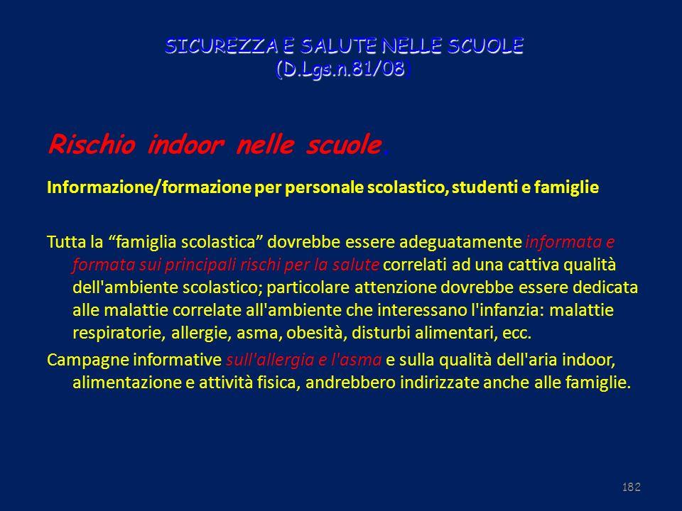 SICUREZZA E SALUTE NELLE SCUOLE (D.Lgs.n.81/08)