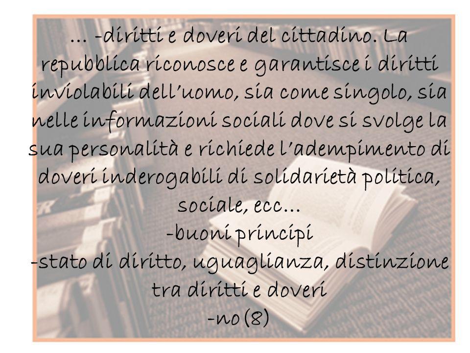 … -diritti e doveri del cittadino