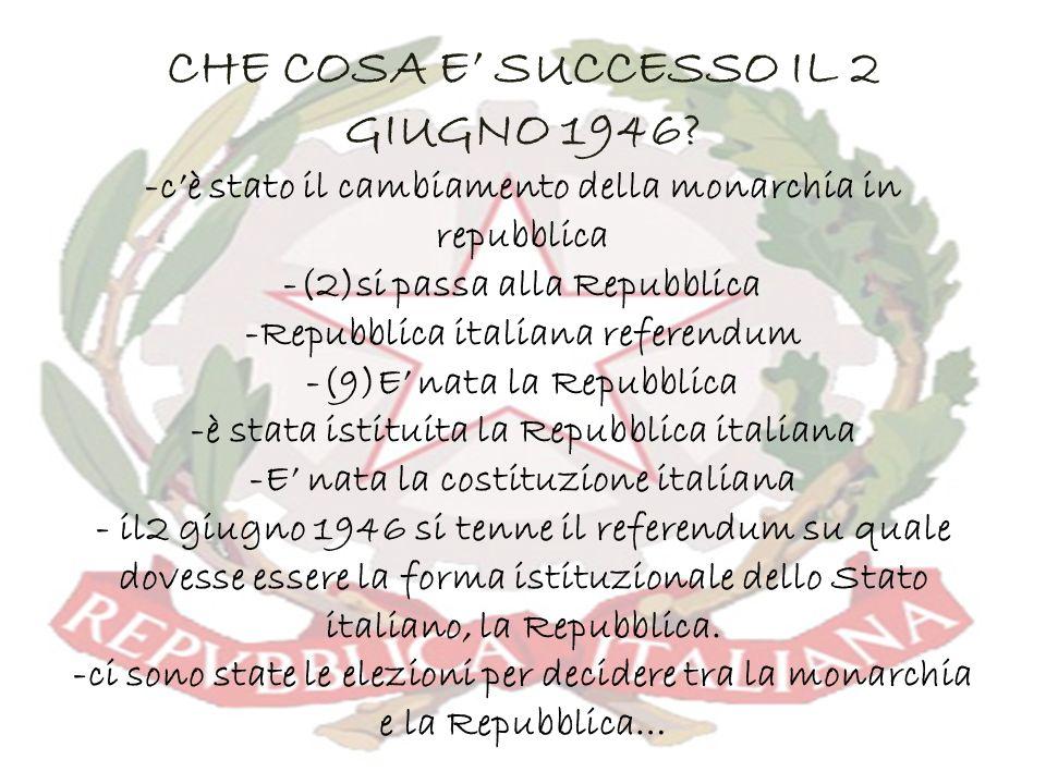 CHE COSA E' SUCCESSO IL 2 GIUGNO 1946