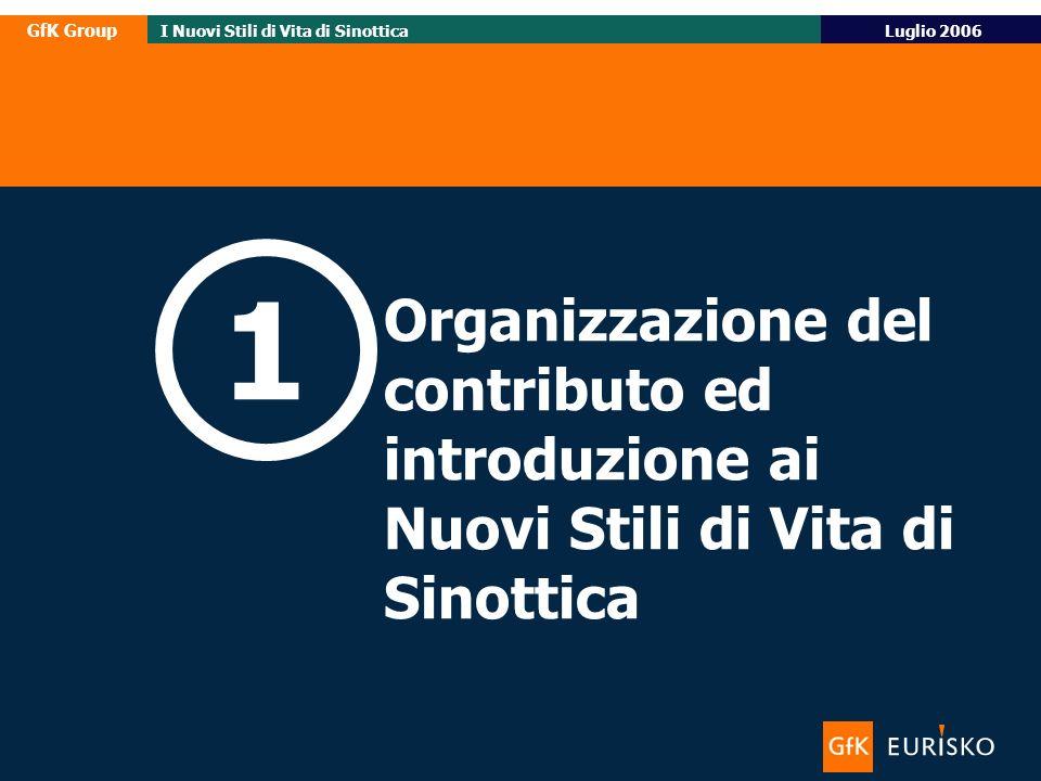 1 Organizzazione del contributo ed introduzione ai Nuovi Stili di Vita di Sinottica