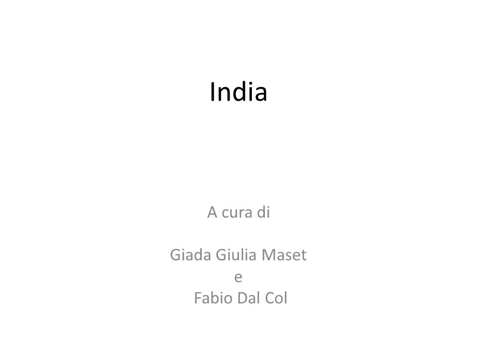 A cura di Giada Giulia Maset e Fabio Dal Col