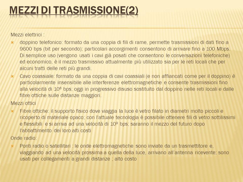 Mezzi di trasmissione(2)