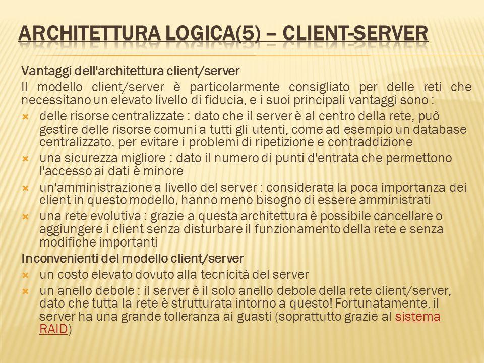 Architettura logica(5) – client-server