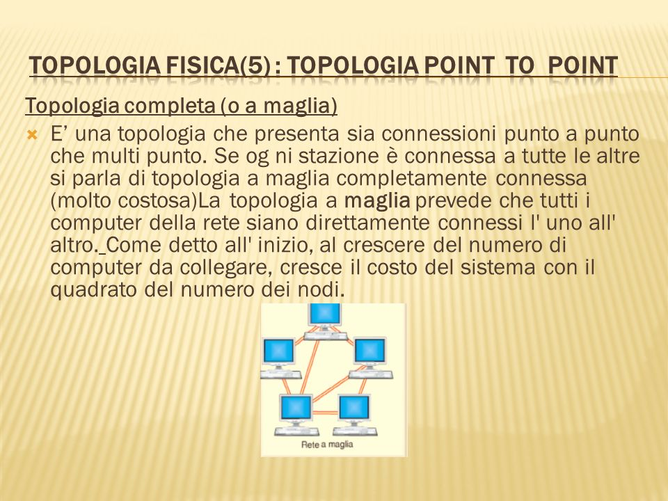Topologia fisica(5) : topologia point to point