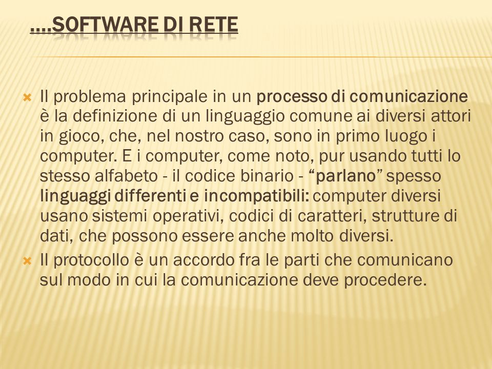 ....Software di rete