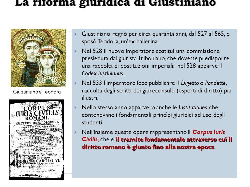 La riforma giuridica di Giustiniano