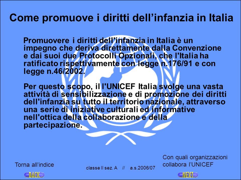 Come promuove i diritti dell'infanzia in Italia