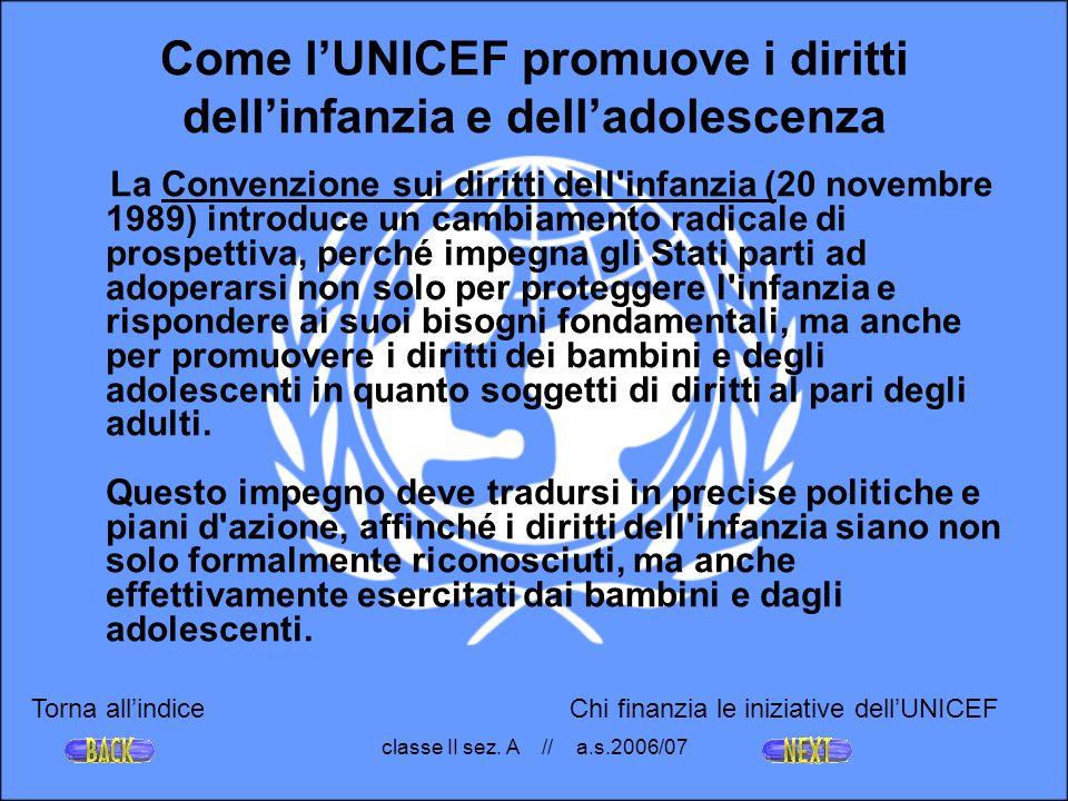 Come l'UNICEF promuove i diritti dell'infanzia e dell'adolescenza