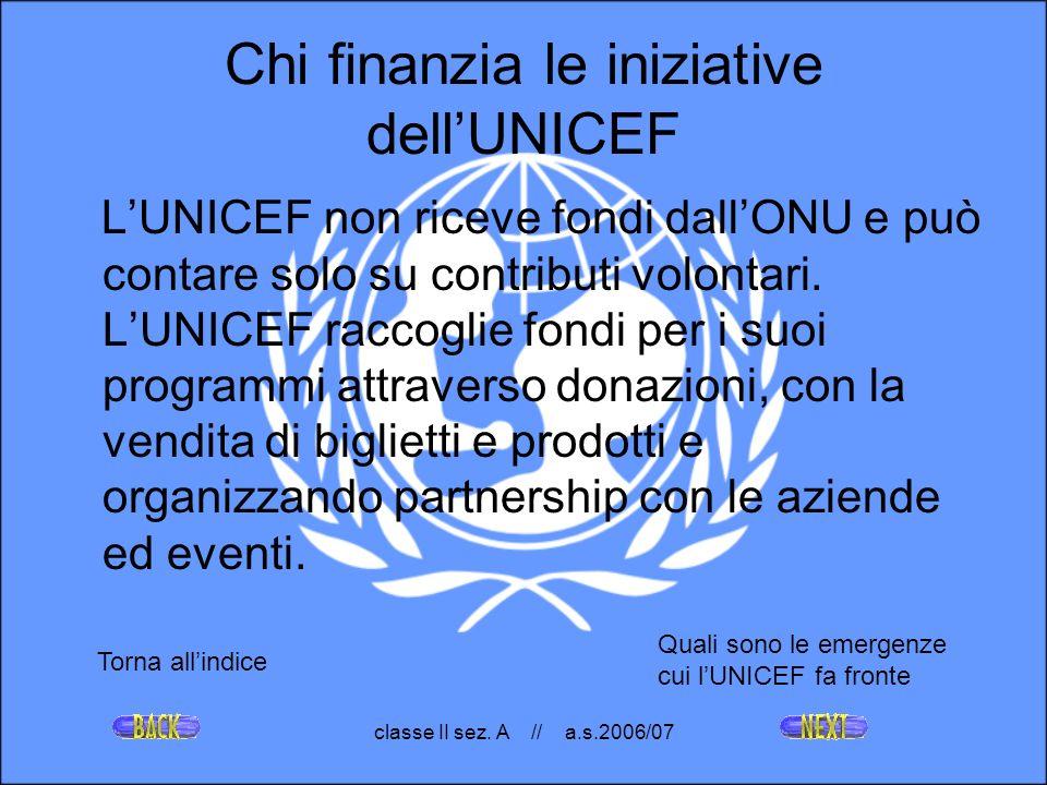 Chi finanzia le iniziative dell'UNICEF