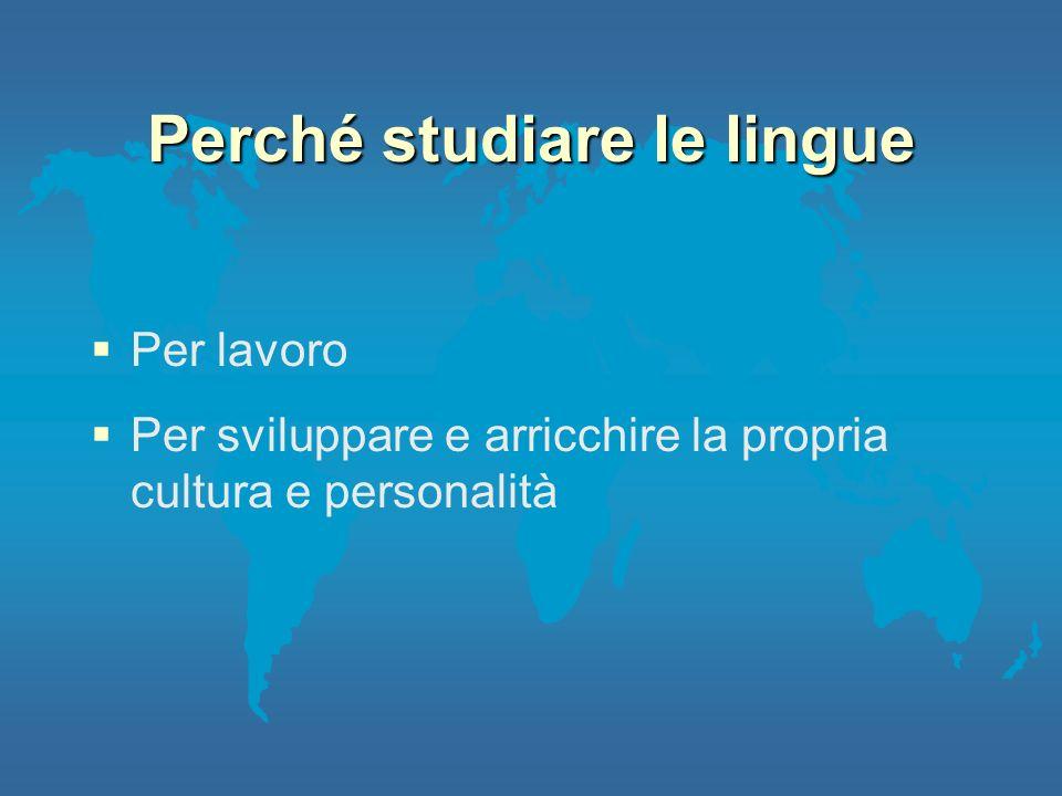 Perché studiare le lingue