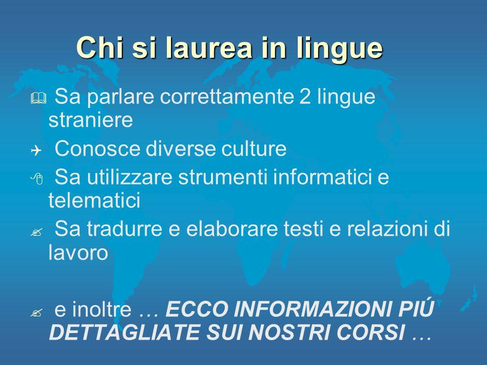 Chi si laurea in lingue Sa parlare correttamente 2 lingue straniere