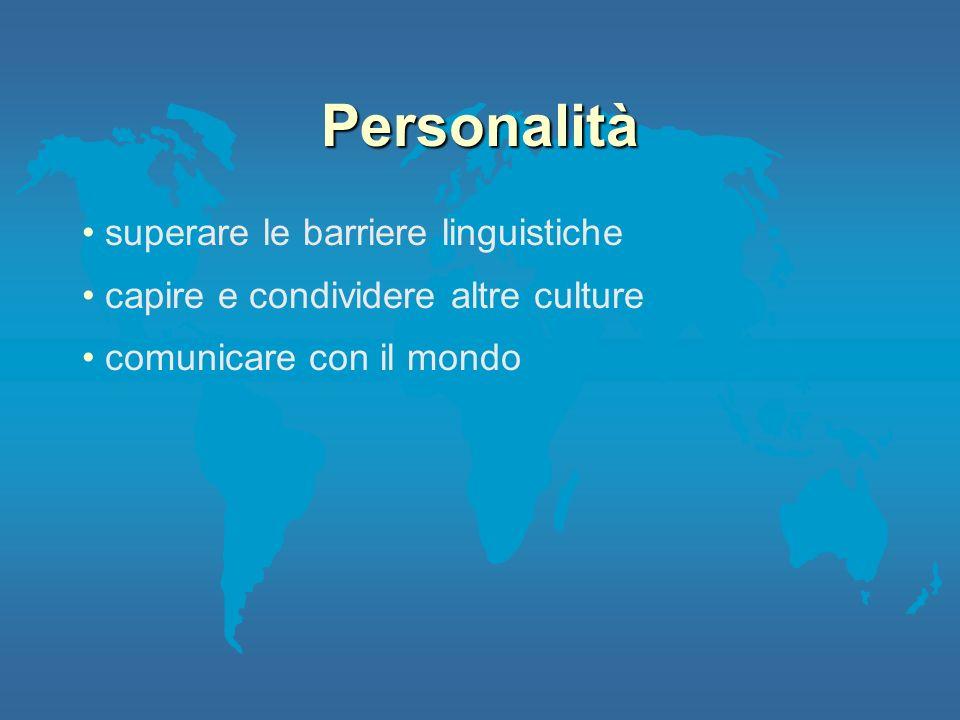 Personalità superare le barriere linguistiche