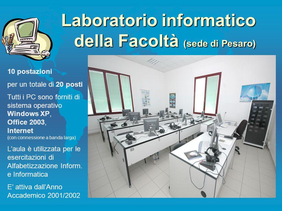 Laboratorio informatico della Facoltà (sede di Pesaro)