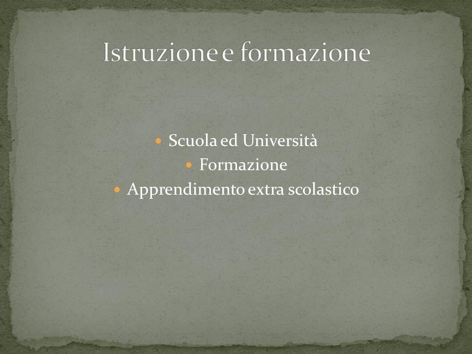 Istruzione e formazione