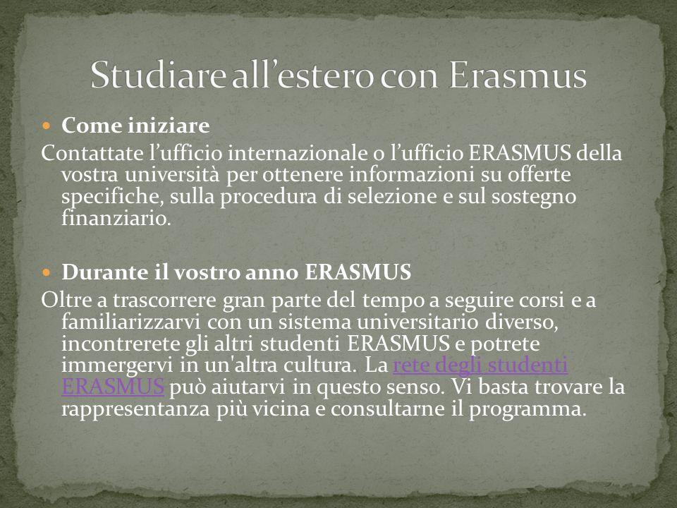 Studiare all'estero con Erasmus