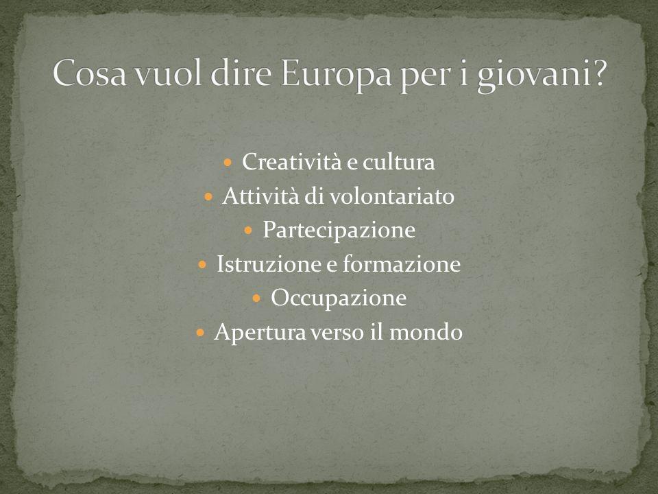 Cosa vuol dire Europa per i giovani