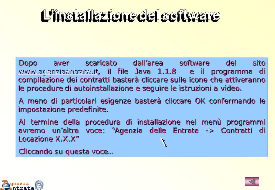 L installazione del software
