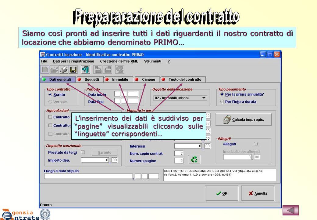 Prepararazione del contratto