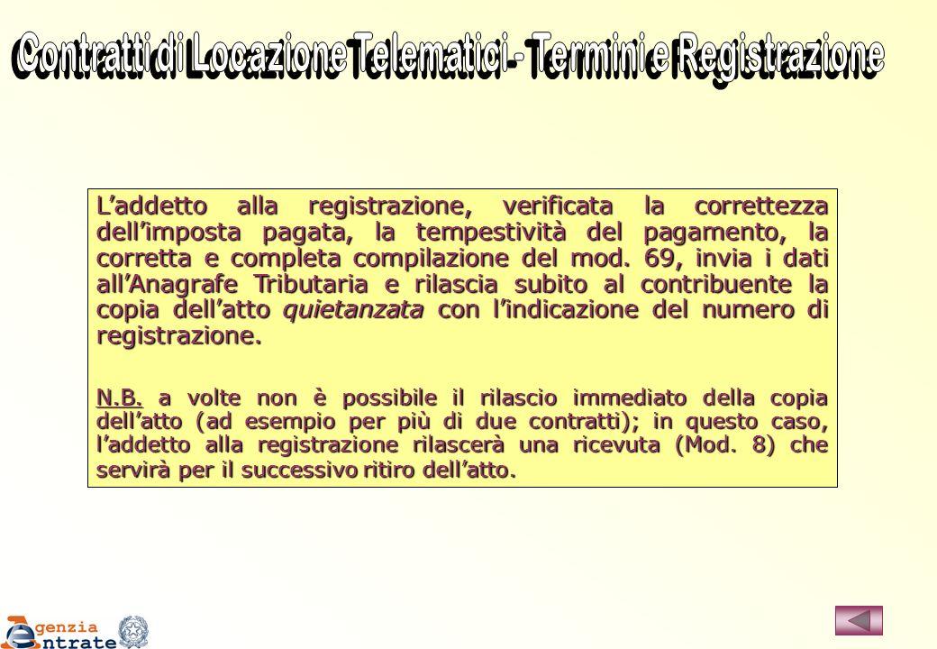Contratti di Locazione Telematici - Termini e Registrazione
