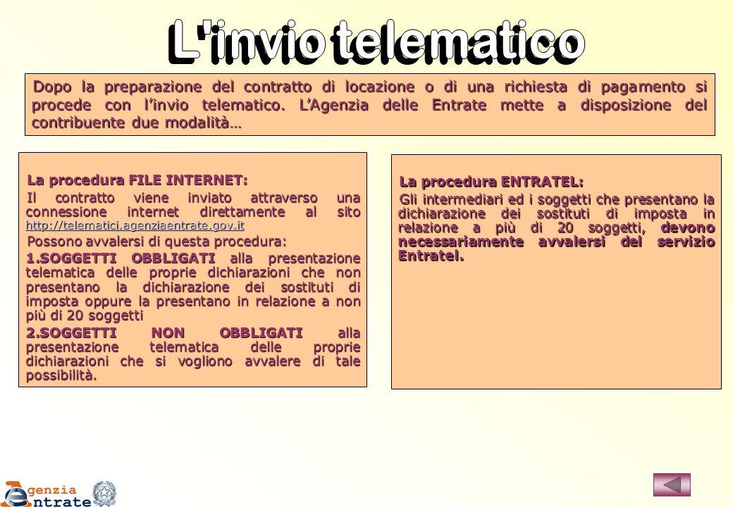L invio telematico