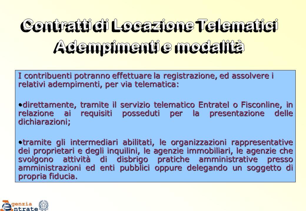 Contratti di Locazione Telematici Adempimenti e modalità