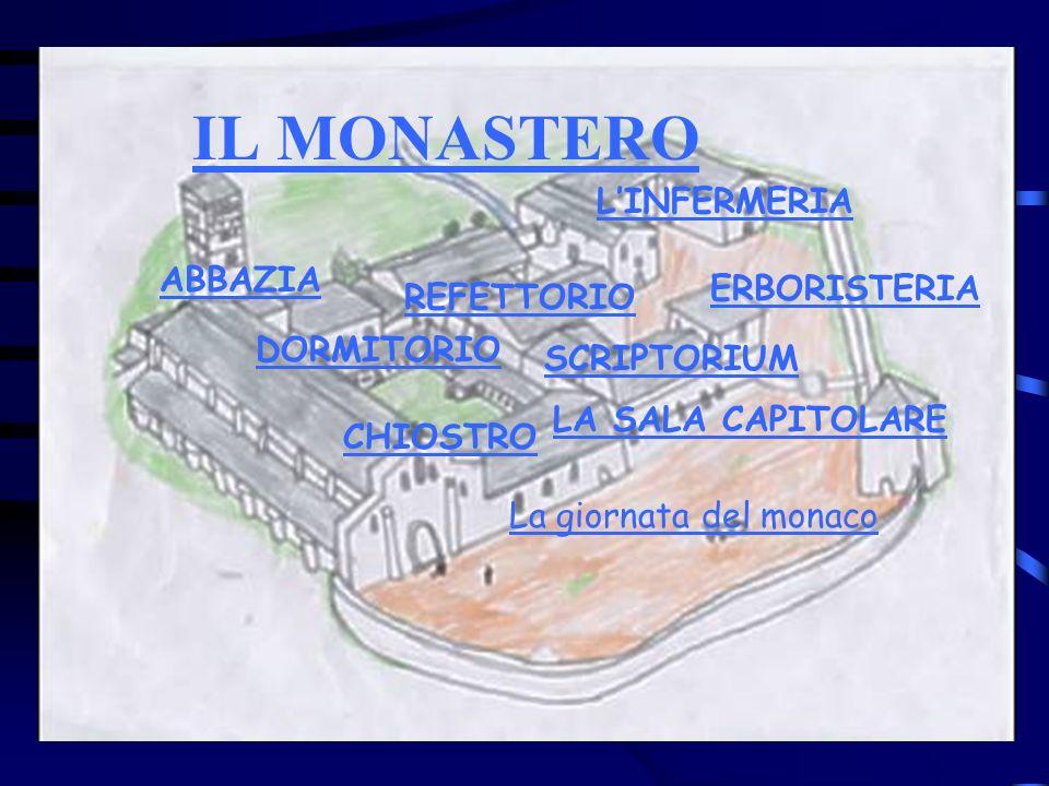 IL MONASTERO L'INFERMERIA ABBAZIA ERBORISTERIA REFETTORIO DORMITORIO