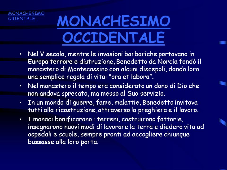 MONACHESIMO OCCIDENTALE
