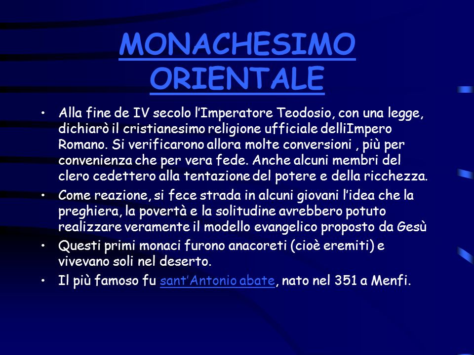 MONACHESIMO ORIENTALE