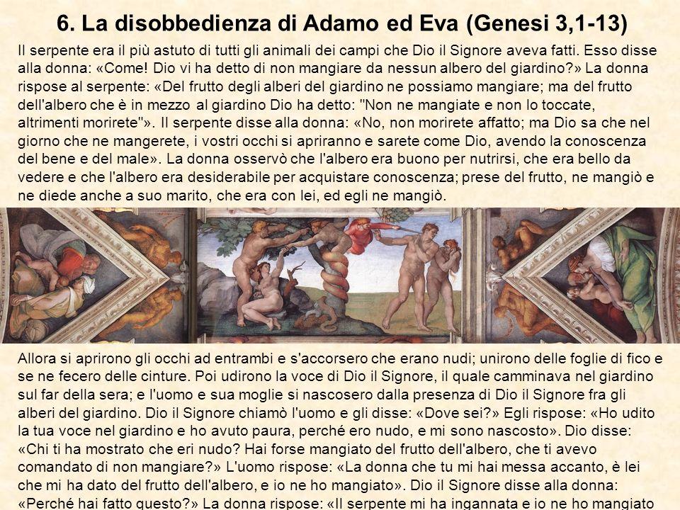 6. La disobbedienza di Adamo ed Eva (Genesi 3,1-13)