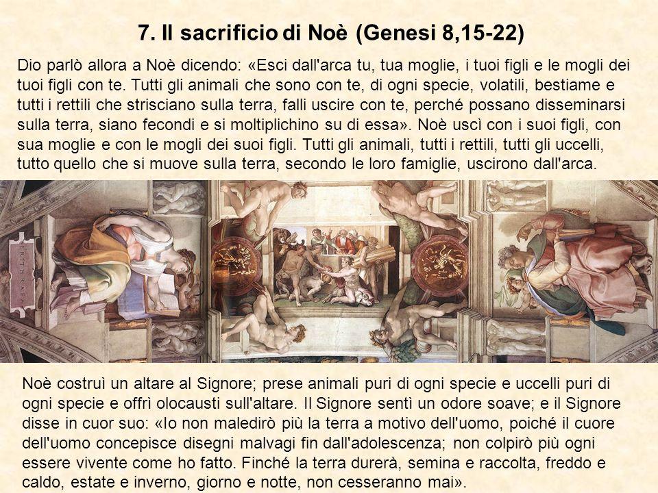 7. Il sacrificio di Noè (Genesi 8,15-22)