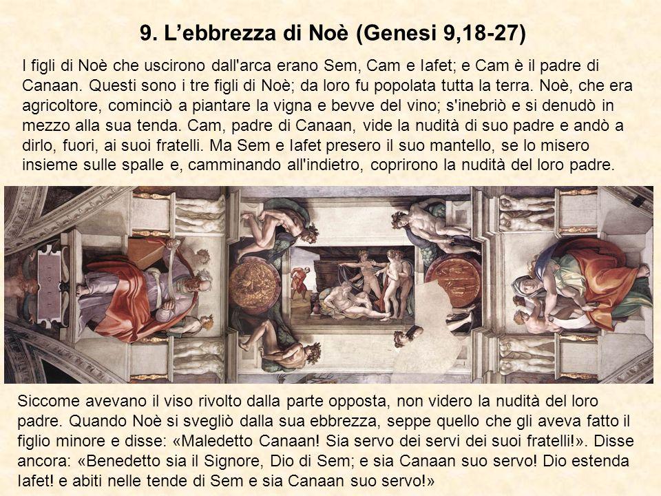 9. L'ebbrezza di Noè (Genesi 9,18-27)