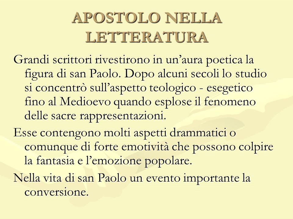 APOSTOLO NELLA LETTERATURA