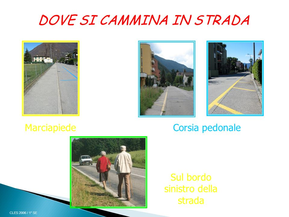 DOVE SI CAMMINA IN STRADA