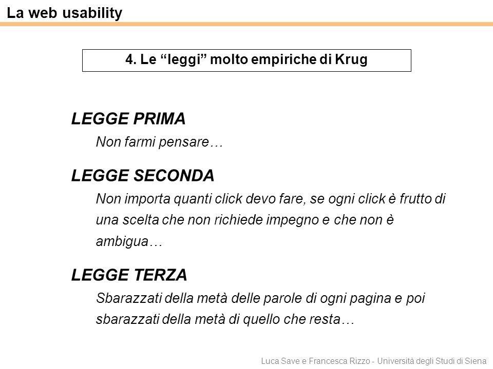 4. Le leggi molto empiriche di Krug