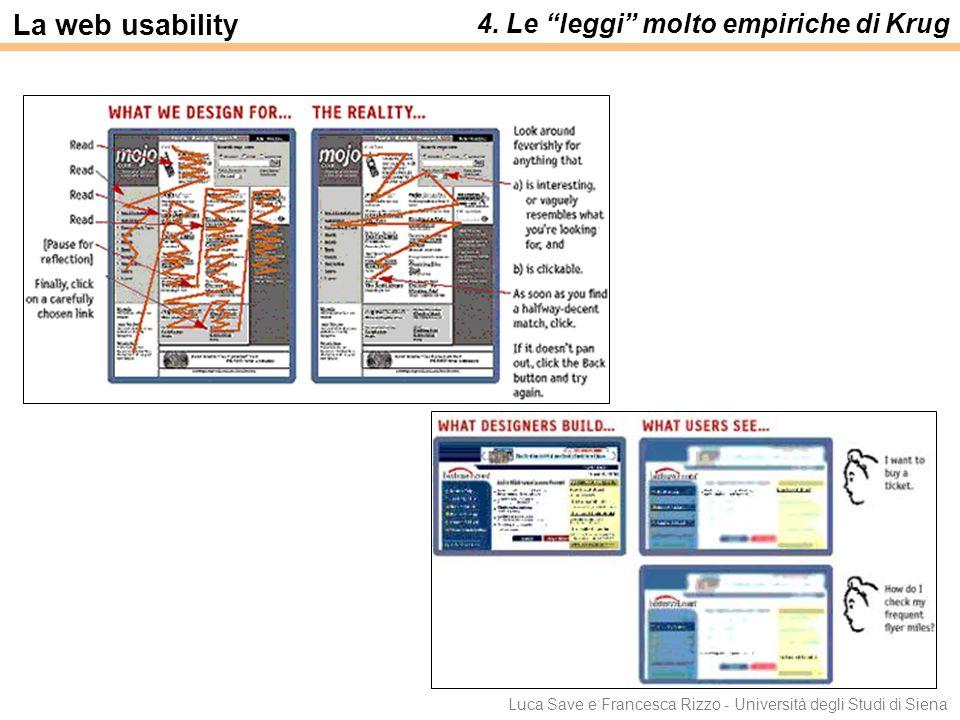 La web usability 4. Le leggi molto empiriche di Krug