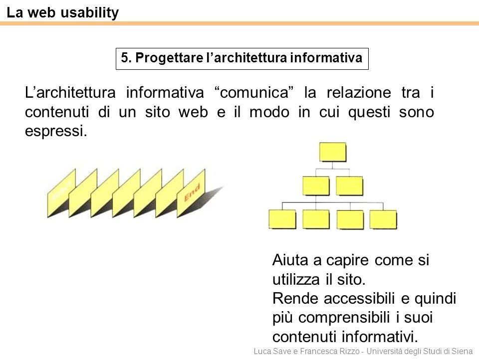 5. Progettare l'architettura informativa