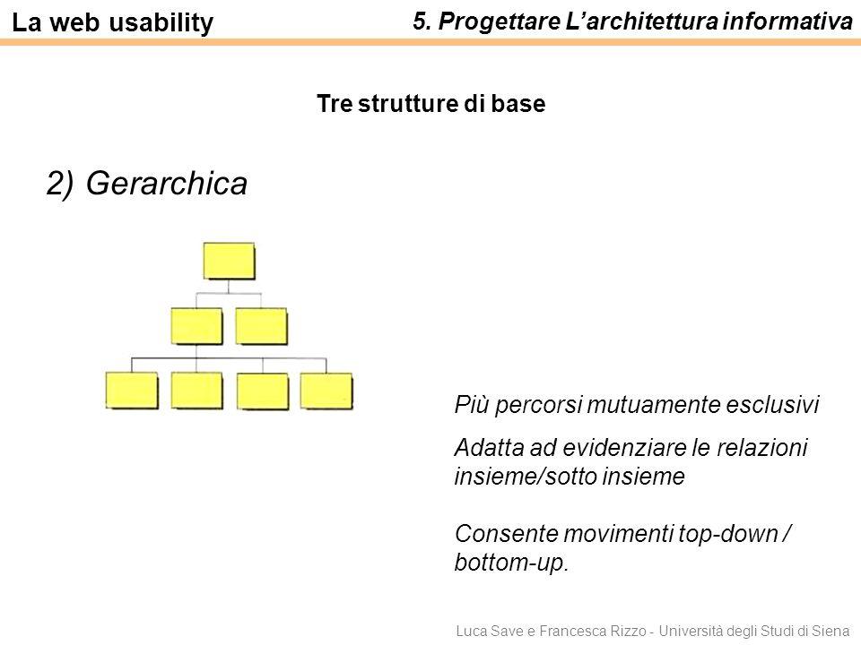 2) Gerarchica La web usability