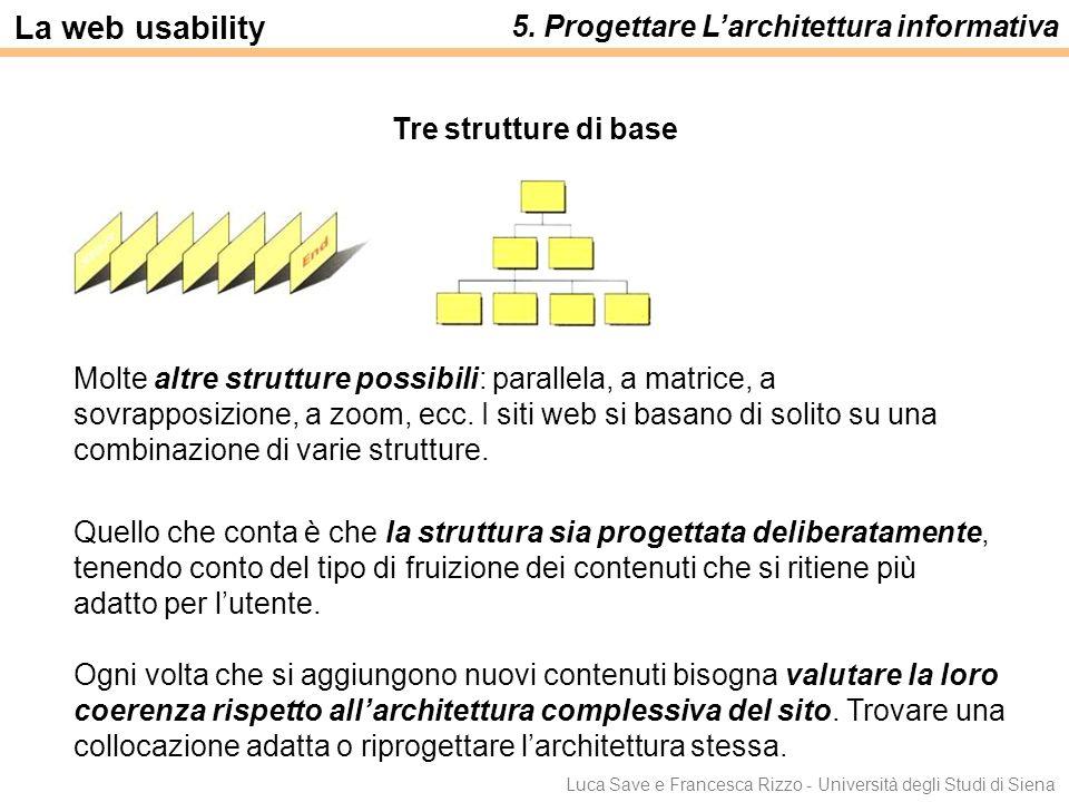 La web usability 5. Progettare L'architettura informativa
