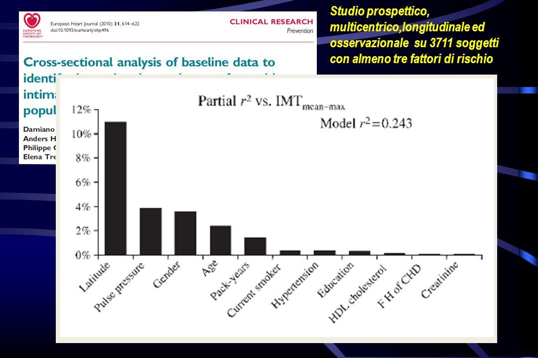 Studio prospettico, multicentrico,longitudinale ed osservazionale su 3711 soggetti con almeno tre fattori di rischio